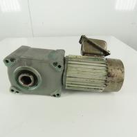 Tsubaki HMTA040-35H80B 80:1 Ratio 22.5RPM 0.4kW 50/60Hz Hollow Shaft Gear Motor