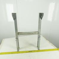 "19"" Wide Galvanized Conveyor Frame Legs 21"" to 29"" Adjustable Height"
