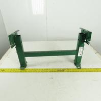 """Dematic Rapistan 25"""" Wide Conveyor Frame Legs 15"""" to 20"""" Adjustable Height"""