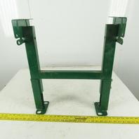 """Dematic Rapistan 19"""" Wide Conveyor Frame Legs 17"""" to 22"""" Adjustable Height"""