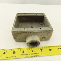 """Crouse Hinds 4"""" x 4-1/2"""" Explosion Proof Electrical Box 3/4"""" Hub"""