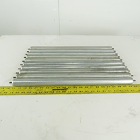 """Dematic 1.4 OD 22"""" BF 23"""" OAL Gravity Conveyor Roller 1/4"""" Pin Axle Lot Of 10"""