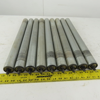 """Dematic HQ S3453 1.9OD 22""""BF 23"""" OAL Gravity Conveyor Roller Lot Of 9"""