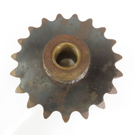 """ANSI #160 Single Row Roller Chain Sprocket 19 Tooth 13"""" OD 2-7/16 Brass Bore"""
