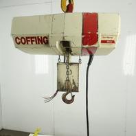 Coffing 1/2 Ton Electric Chain Hoist 10' Lift 16FPM 208-230/460V 3Ph
