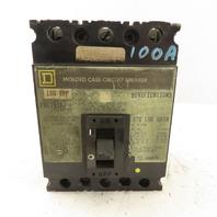 Square D FAL-34100 100A Molded Case Circuit Breaker 480VAC 250VDC 3 Pole