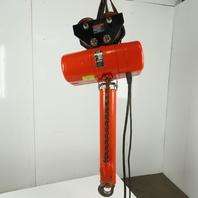 CM Lodestar RR2 Electric Chain Hoist 2 Ton 5/16FPM 20' Lift 460V Trolley 2 Speed 3Ph