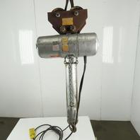 CM Lodestar R Electric Chain Hoist 2 Ton 8 FPM 20' Lift 208-230/460V W/Trolley