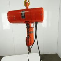 CM Lodestar R Electric Chain Hoist 2 Ton 8 FPM 10' Lift 115V Single Phase