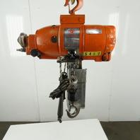 Gardner Denver 75039AA7 Pneumatic Air Chain Hoist 1 Ton 15' Lift