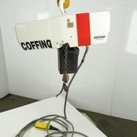 Coffing EC 1032-4 1/2 Ton Electric Chain Hoist  2Spd 8/16 FPM 15' Lift 460V 3Ph