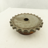 """Rexnord D80 22 1 12 #80 Roller Chain Coupling Hub 1-1/8 Stock Bore 7-1/4"""" OD 22T"""