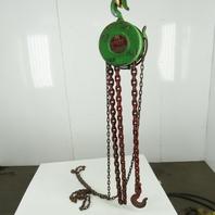 """OCC 6S-LE 2 Ton Manual Chain Fall Hoist 10"""" Lift 9' Hand Wheel Chain"""