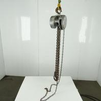 """CM Cyclone Model M 2 Ton Manual Chain Fall Hoist 10"""" Lift 14' Hand Wheel Chain"""