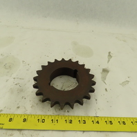 60BTB21H 2012 Single Roller 21 Tooth  #60 Chain Sprocket Bushed Bore