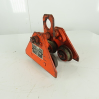 """Wright 1/2 Ton (1000LB) Manual Push-Pull Hoist Trolley 2"""" to 4-1/2"""" Wide Beam"""
