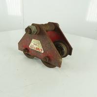 "CM 1 Ton (2000LB) Manual Push-Pull Hoist Trolley 3"" to 5""  Wide Beam"