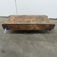 """Vintage Antique Industrial Factory Warehouse Railroad Coffee Table Cart 24""""x48"""""""