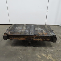 """Lineberry Antique Industrial Factory Warehouse Railroad Coffee Table Cart 30x48"""""""