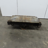 """Antique Industrial Factory Warehouse Railroad Coffee Table Cart 30""""x48"""""""