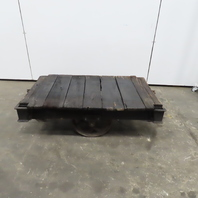 """Antique Industrial Factory Warehouse Railroad Coffee Table Cart 30""""x48""""x16""""H"""