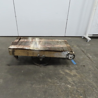 """Antique Industrial Factory Warehouse Railroad Coffee Table Cart 24""""x48""""x17""""H"""