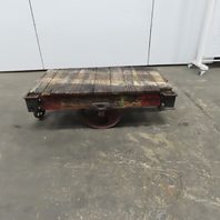 """Antique Industrial Factory Warehouse Railroad Coffee Table Cart 28""""x48""""x16""""H"""