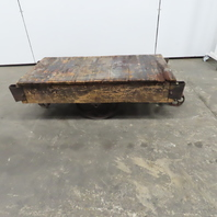 """Antique Industrial Factory Warehouse Railroad Coffee Table Cart 25""""x48""""x16""""H"""