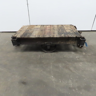 """Antique Industrial Factory Warehouse Railroad Coffee Table Cart 27""""x48""""x15""""H"""