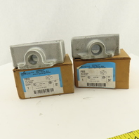 """Crouse Hinds FS22 Condulet Two Gang Cast Iron Electrical Box 3/4"""", 1/2"""" Lot Of 2"""