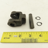 """Parker BDC-05 1/2"""" Cylinder Clevis Rod End 7-1/6"""" Thread W/ Pin and Clips"""