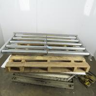 "Galvanized 30""x 55"" Gravity Roller Conveyor 52"" BF x 1.90"" Diameter 6"" Centers"