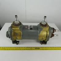 "API Ketema 8-Y-18 MHT-2-B-CI Brass Shell & Tube Heat Exchanger 8"" x 18"" 200 PSI"