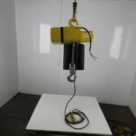 Yale 648384400 2 Ton Electric Chain Hoist 23' Lift 16 FPM 230/460V 3ph