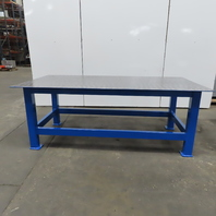 """3/8 Thick Top Steel Fabrication Welding Layout Table Work Bench 96""""x48""""x36-1/2"""""""