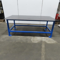 """1/4 Thick Top Steel Fabrication Welding Layout Table Work Bench 96""""x48""""x36-3/8"""""""