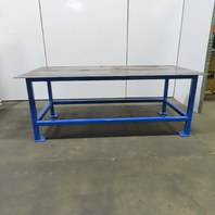 """1/4 Thick Top Steel Fabrication Welding Layout Table Work Bench 96""""x48""""x36-1/4""""H"""