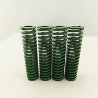 """1-1/4"""" x 5"""" Long 5/8"""" Hole Lite Load GREEN Die Spring Lot Of 4"""