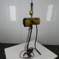 Whiting Ser# 048761 Roller Chain Electric Hoist 480V 3Ph 8 FPM 12' Lift