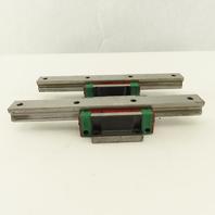 Hiwin HG20 20mm Linear Profile Rail Bearing Block 200mm Long Lot Of 2