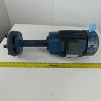 "Gusher 11029XL 5Hp Vertical 13"" Depth Centrifugal Coolant Pump 230/460V 3Ph"