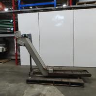 "Henning Incline Cleated Chip Conveyor 12"" Belt 47"" Discharge 8FPM 208/230V 3Ph"