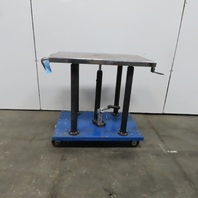 """1/2 Ton Hydraulic Mechanical 4 Post Die Table Cart 24x36 Platform 36 to 54"""" Lift"""