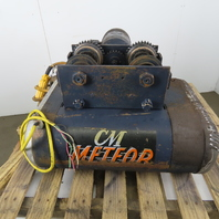 CM Chisholm-Moore 1-1/2T Electric Hoist Wire Rope 20' Lift 18FPM W/Power Trolley