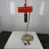 CM Lodestar Model L Electric Chain Hoist 1 Ton 16FPM 18'Lift 208-230V 1Ph