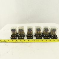 Deltrol 09C01DDD24 165 3PDT 24VAC Ice Cube Relay & Socket Base Lot Of 6