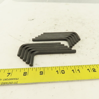 """1/4  Short Arm 3"""" Hex Key Allen Wrench Loose Lot Of 10"""
