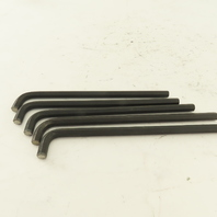 """1/4  Stubby Long Arm 6"""" Hex Key Allen Wrench Loose Lot Of 5"""