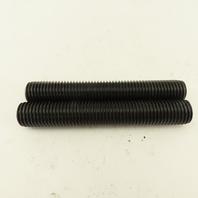 "1-8 Full Thread Stud 6-3/8"" Long Black Oxide Lot Of 2"