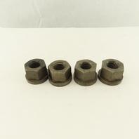 1-8 Hex Flange Nut Steel Lot Of 4